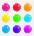 colorful realistic spheres vector image vector image