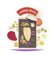 cooking classes composition vector image