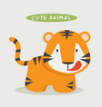 cute tiger cartoon vector image vector image