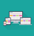 devices responsive web design vector image