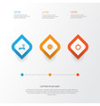 digital icons set collection of power on vector image