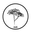 Dill icon vector image vector image