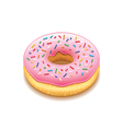 Donut isolated on white vector image vector image