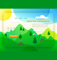 eco friendly city tourism landing page template vector image vector image