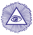 Eye Of Providence or All Seeing Eye Of God - famou vector image vector image