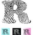 Fingerprint Alphabet Letter R vector image vector image
