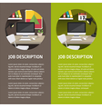 flat office vector image vector image