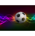 Football with light on colorful background vector image