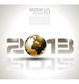 Futuristic 2013 background vector image vector image