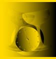 golden glasses vector image vector image