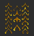 golden thai art design ornamentals vector image