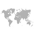 gray dotted world map isolated on background blan vector image vector image