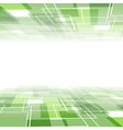 Green tile background template - perspective view vector image vector image