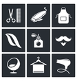 Hair salon icon collection vector image vector image