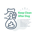 Hand holding bag with dog poop please keep clean