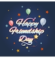 Happy friendship day vector image vector image