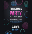 happy new year and christmas party poster vector image