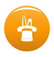 hat with rabbit icon orange vector image vector image