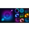 huge set glowing rounds with glitter abstract vector image vector image