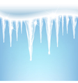 icicles on a blue background vector image