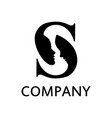 initial s logo zodiac concept vector image vector image