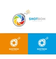 logo combination of a camera shutter and vector image