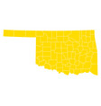 map of oklahoma vector image vector image