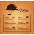 menu restaurant kitchen icon graphic vector image vector image