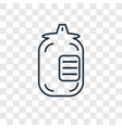 microbe concept linear icon isolated on vector image