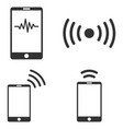 mobile signal flat icon set vector image