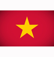 National flag of Vietnam vector image