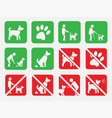 no dogs and dog allowed signs no fouling vector image vector image