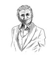 old man sketch elegant man dressed in suite vector image vector image