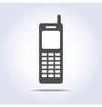 Phone retro icon gray colors vector image