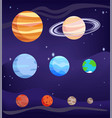 planet set bodies poster vector image vector image