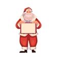 Santa Claus holding a blank board vector image