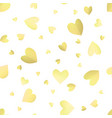seamless pattern background with yellow hearts vector image vector image