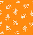 seamless pattern with human skeleton hand vector image vector image