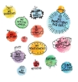 set hand-drawn icons for time managment vector image vector image