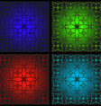 Set of patterns for stained glass vector image vector image
