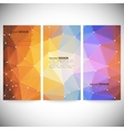 set with polygonal abstract shapes circles lines