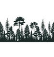 silhouette of pine forest vector image