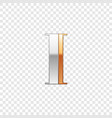 silver and gold font symbol alphabet letter i vector image