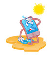 smartphone tired for hot sun vector image vector image
