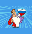 sports fan loves russia vector image vector image