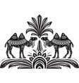 stylized figures decorative camels vector image vector image