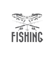 Vintage fishing design template