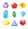 gem set icon gem ruby emerald sapphire vector image