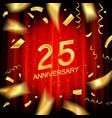 25th anniversary logo vector image