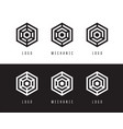 abstract hexagon logo design vector image vector image